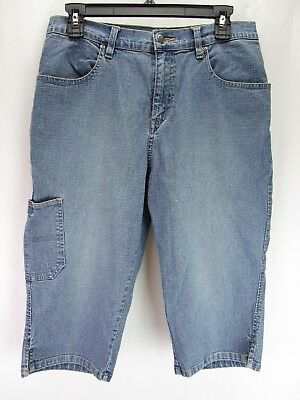 Riveted by Lee Women's Blue Jean Bermuda Shorts Size 12M Stretch Light Wash  I
