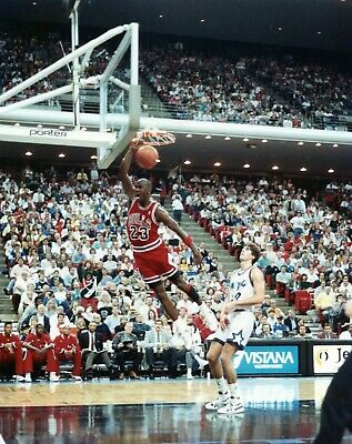 Michael Jordan 8X10 Photo Dunking Chicago Bulls Hof Vs Orlando Magic Goat