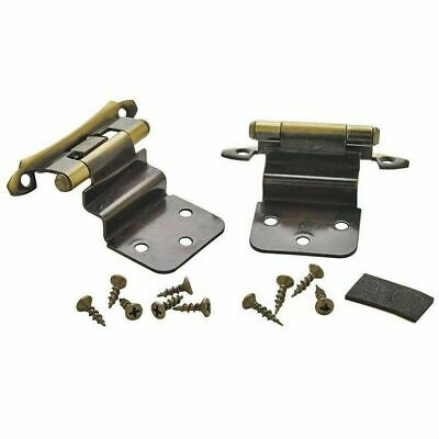 "Amerock BPR7928AE 3/8"" Inset Cabinet Hinge In Antique Brass"