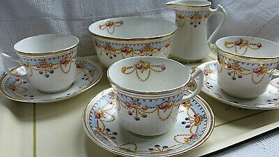 Antique English China Wild Bros 'DALTON PATTERN 3259' Art Deco 20's tea set