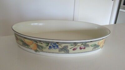 MIKASA Intaglio Garden Harvest Oval Serving Dish 31cm (2 available) W Footscray