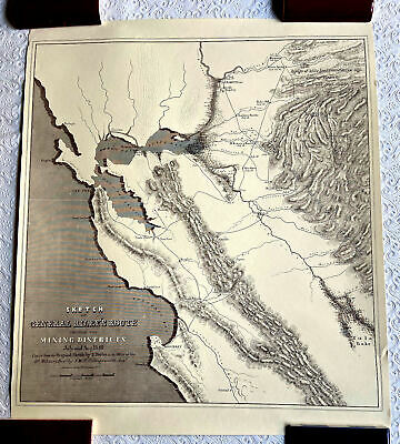 General Riley's Route Through the Mining Districts July - Aug. 1849 Reprint