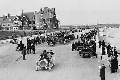 OLD PHOTO Bexhill quarter mile motor race on 1907 at Bexhill on Sea