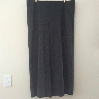 LOFT Houndstooth Black Gray Pull On Wide Leg Pant Stretchy XL NWT