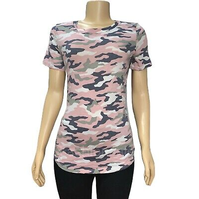 Victorias Secret PINK Everyday Pink Camouflage Crew-Neck Tee T-shirt Top