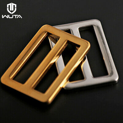1//2pcs WUTA Stainless Steel Belt Buckle Classical Tongue Pin Bag Storage Buckle