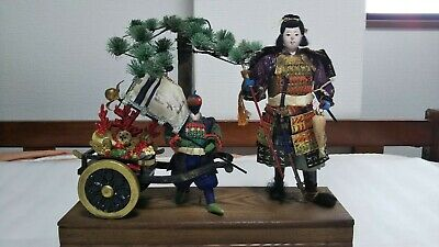 10' (26cm) Japanese Antique SAMURAI Armor YOROI Doll MUSHA NINGYO Warrior Figure