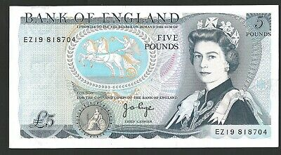 B336 PAGE 1973 FIVE POUND £5 BANKNOTE BY74 747201 - aunc