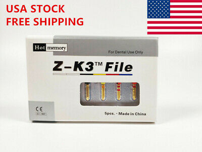 USA Dental Endodontic Endo NiTi Rotary Files Root Canal Heat Activated Z-K3 25mm