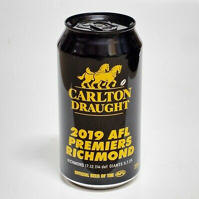 2019 Richmond Tigers Premiership 375ML Beer Can Bottom Opened Collectors Item