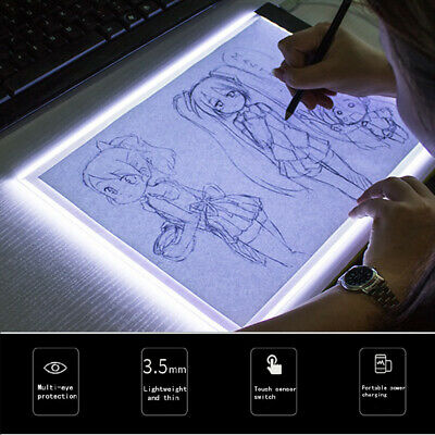 A5 LED drawing tablet art stencil drawing board light box tracing table pad KC