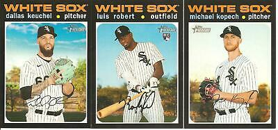 CHICAGO WHITE SOX 2020 Topps HERITAGE Base TEAM SET-11 CARDS w/ RCs (Cease rc)