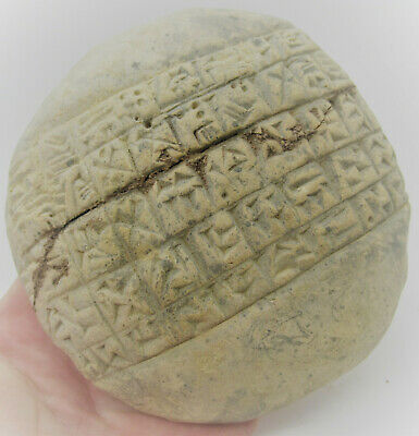 Circa 3000Bce Ancient Near Eastern Clay Tablet With Early Form Of Writing Rare