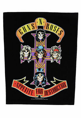 """Guns N/' Roses Appetite for Destruction Emblem Embroidered Patch Iron On 11/""""x16/"""""""