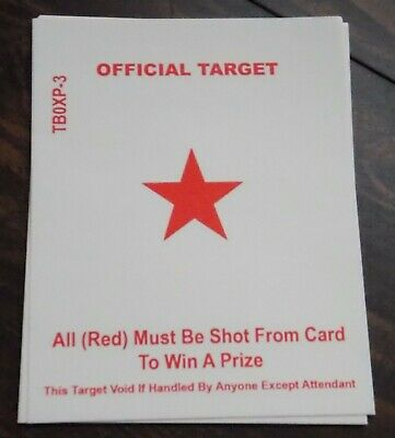 carnival targets game Shooting Star Inc Red Star classic Pack of 10