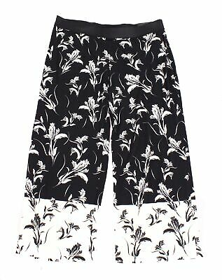 Alfani Womens Pants Black Size 3X Plus Wide-Leg Pull-On Floral Stretch $69- 248