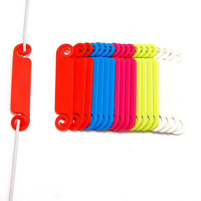20 Plastic Cable Organizer Wire Labelling Holder Tie Tidy Tags Home Office Cord