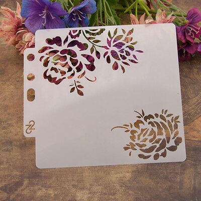 Reusable rose Stencil Airbrush Art DIY Home Decor Scrapbooking Album Craft ff