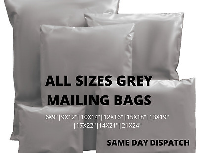 Uk Cheapest All Size Grey Mailing Bags Poly Postal Self Seal Parcel Plastic Bags