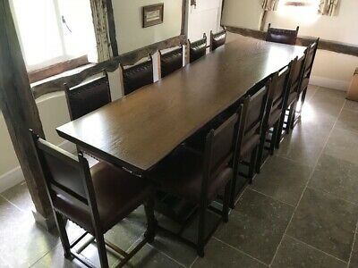 Set Of 12 Cromwellian Style Dining Room Chairs