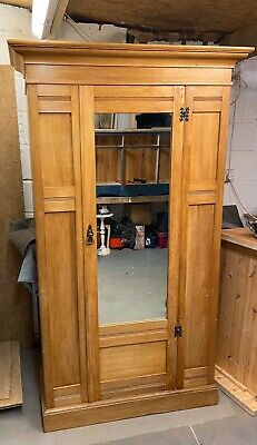 Antique Satinwood Single Wardrobe