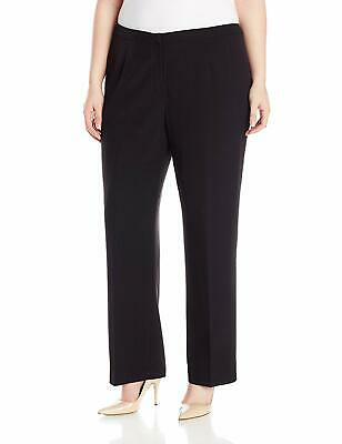 Kasper Womens Dress Pants Black Size 24W Plus Straight Leg Stretch $79 486