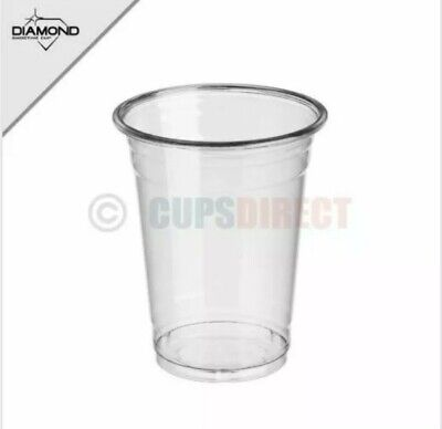 32 Disposable Plastic Smoothie Milkshake Cups and Dome Lid with Hole 16oz