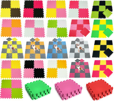 Kids Baby Eva Foam Mat Soft Floor Tiles Interlocking Play Mats Crawling 31x31cm