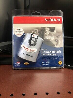 92-a15 USB 2.0 COMPACT FLASH CARD READER WRITER Brand New SANDISK SDDR
