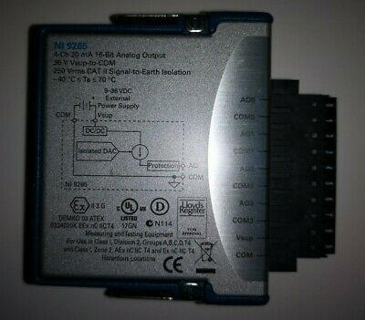 National Instruments NI 9265 cDAQ Analog Current Output Module - Unmarked