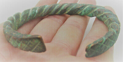 Detector Finds Ancient Viking Norse Twisted Warriors Bracelet Ca 1000Ad