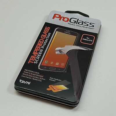 Genuine Tzumi Proglass Tempered Glass Screen Protection Samsung Galaxy S5 (E1200