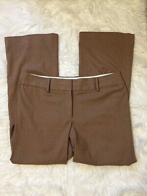 Ann Taylor Loft Julie Trouser Pants Tan Womens Size 12