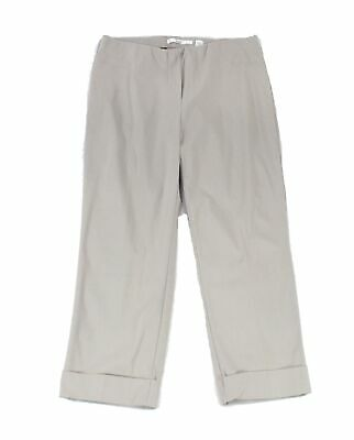 Illusion Women's Pants Gray Size 12X23 Pull-On Capris Cropped Stretch