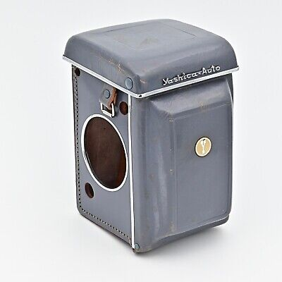 Yashica AUTO Fitted Leather Eveready Case Grey with Neckstrap **RARE**