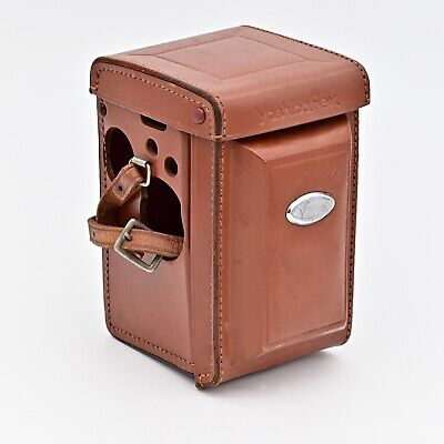 YashicaFlex Fitted Leather Eveready Case Brown ***EXCELLENT ++ ***