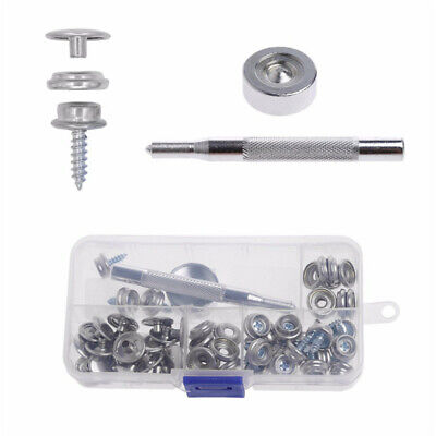 Prettyia 10 Set Screw in Snap Stud Fastener Replacement Kit w// Installation Tool