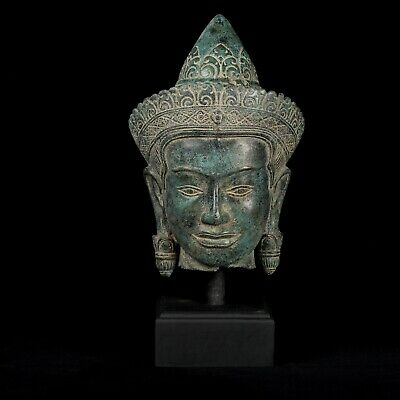 Antique Khmer Style Lakshmi / Devi Consort of Vishnu Head - 40cm/16""