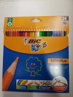BIC Kids Evolution ECOlutions Colouring Pencils - Assorted Colours, 1 Pack of 24