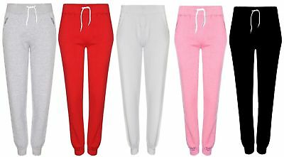 New Womens Ladies Casual Jersey Jogging Bottoms Girls Lounge Gym Sports Trousers