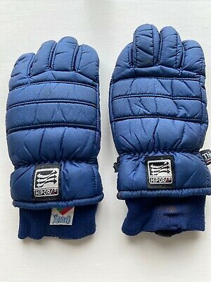 Vintage Skiing Gloves Hipora Navy Thinsulate GREAT CONDITION