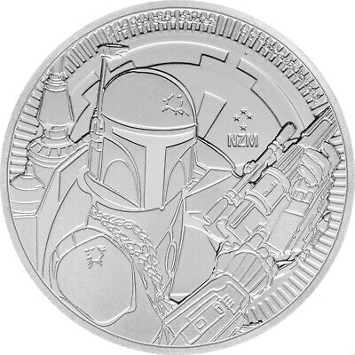 2020 Niue Star Wars Series Boba Fett 1 oz .999 FINE Silver BU Coin - IN STOCK!!