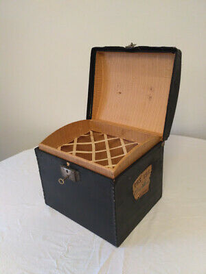Antique Hat-box - Antike  Hutschachtel dekorative Oldtimer Reise Hut Box Koffer