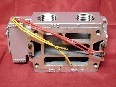 "MAC VALVE ~ ALUMINUM CONDUIT JUNCTION BOX ~ 1-1/4"" Conn ~ with valve WIRING"