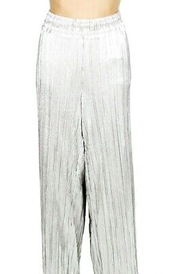 INC Womens Pants Silver Size Small S Dress Stretch Metallic Shimmer $89 106
