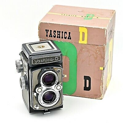Yashica D Twin Lens TLR 120 6x6 Film Camera. RARE Grey/Grey Colour.