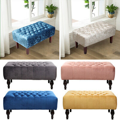 Large Chesterfield Footstool Ottoman Pouffe Stool Bench Coffee Table Window Seat