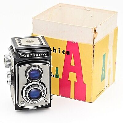 Nr Mint Yashica A 120 6x6 TLR Film Camera Rare Black/Grey Colour **IN BOX**