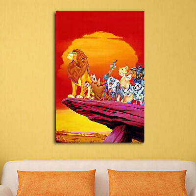 Lion King Walt HD Canvas prints Painting Home decor Picture Room Wall art Poster