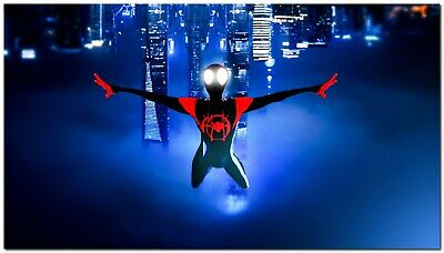 New Spiderman Upside Down Silk Wall Poster Size : 24x36 inches Free Shipping